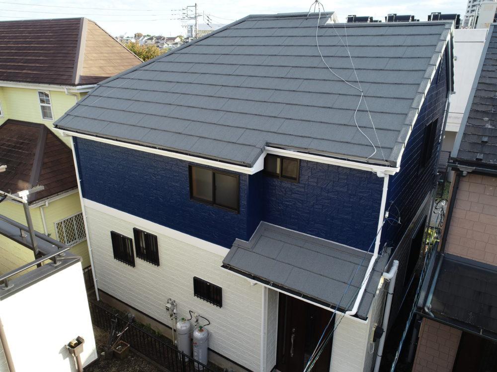 町田市E様邸 屋根カバー工法・外壁塗装