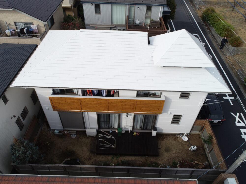 横浜市M様邸 屋根塗装(日本ペイント・サーモアイシリーズ4フッ素)・外壁塗装(日本ペイント・1液ファインフッソUV)・ウッドデッキ塗装