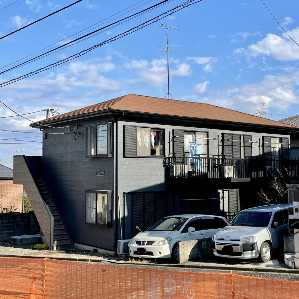 稲城市アパート 屋根カバー工法(ディーズルーフィング・メリッサ)・外壁塗装工事(日本ペイント・パーフェクトップ)
